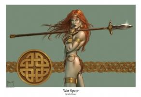 War Spear Comic Art