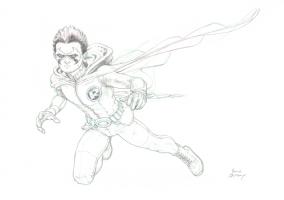 Robin pin up - Frank Quitely Comic Art
