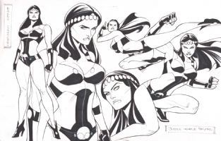 Big Barda Justice League Beyond characters design - Thony Silas Comic Art
