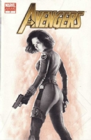 Avengers # 7 Blank Variant Hand Drawn Black Widow, Comic Art