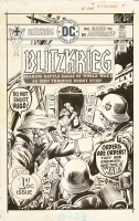 Joe Kubert - Blitzkrieg #1 Cover Comic Art