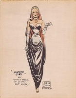 Madame Lynx Print - Milton Caniff 1947 Comic Art