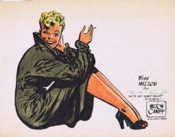 Miss Mizzou colored print by Milton Caniff Comic Art