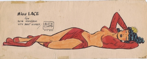 Milton Caniff Miss Lace Print Comic Art