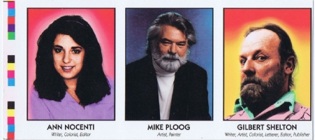 Famous Comic Creator Cards 5 Nocenti Ploog Shelton Comic Art