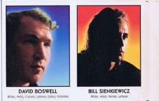 Famous Comic Creator Cards 9 Boswell Sienkiewicz Comic Art