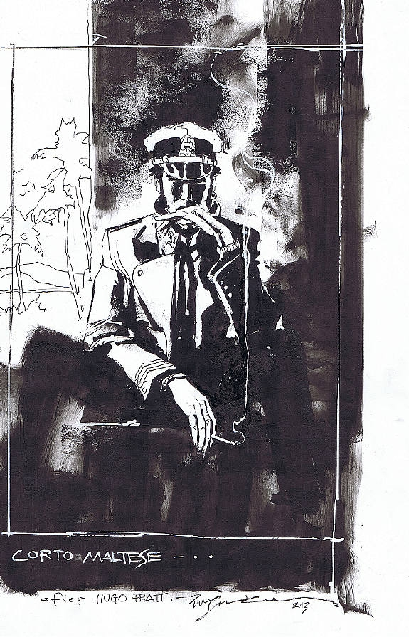 Corto Maltese by Bill Sienkiewicz Comic Art
