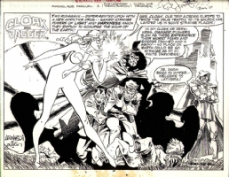 Cloak and Dagger Marvel Age Promotional Pin-up Dr. Doom Comic Art