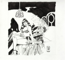 Betty and Torpedo illustration by Jordi Bernet Comic Art