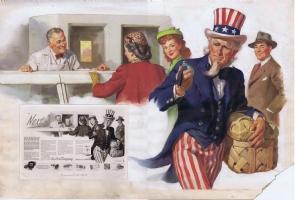 Gil Elvgren painting 1945 Comic Art