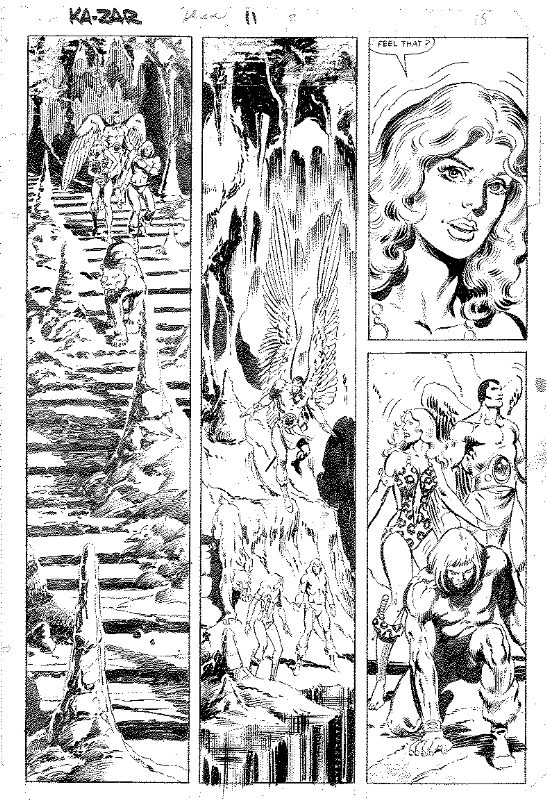 Brent Anderson KaZar Comic Art