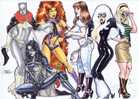 Spider-Wing Gals Jam - Final Comic Art