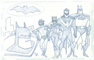 Animated Bat-Family Comic Art
