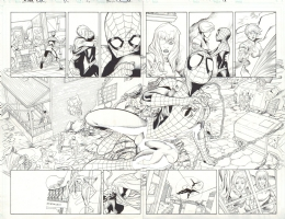 Rafa Sandoval - Ultimate Enemy 4 pg 16-17 double spread Comic Art