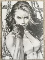 She Hulk Sketch Card by Jay Anacleto Comic Art