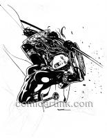 Ryan Sook - Magdalena #4 BW Cover Ad Art Comic Art