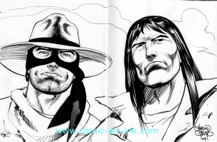 Lone Ranger and Tonto Comic Art