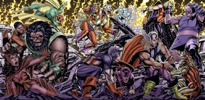 Byrne Avengers vs. Darkseid Comic Art