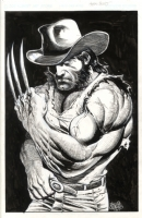 Wolverine with hat Comic Art
