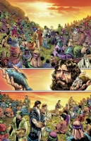 Jesus feeds 5000 Comic Art