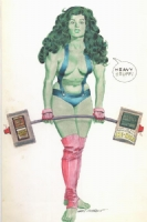 She Hulk Ad Comic Art