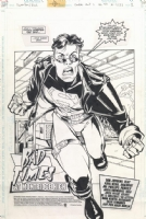 Superboy / Risk Splash Page Comic Art