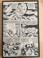 Jack Kirby page from CAPTAIN AMERICA ANNUAL #3 (1976)  Comic Art