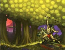 Swords of Mars  by Edgar Rice Burroughs Comic Art
