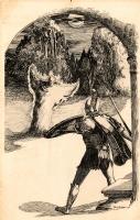 Weird Tales pulp, April 1935 --  Shadows of Blood  by Eando Binder Comic Art