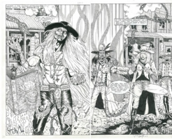 Showdown with Babberith...Gunfighters in Hell Comic Art