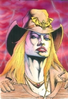 Sinbuck portrait...Gunfighters in Hell Comic Art
