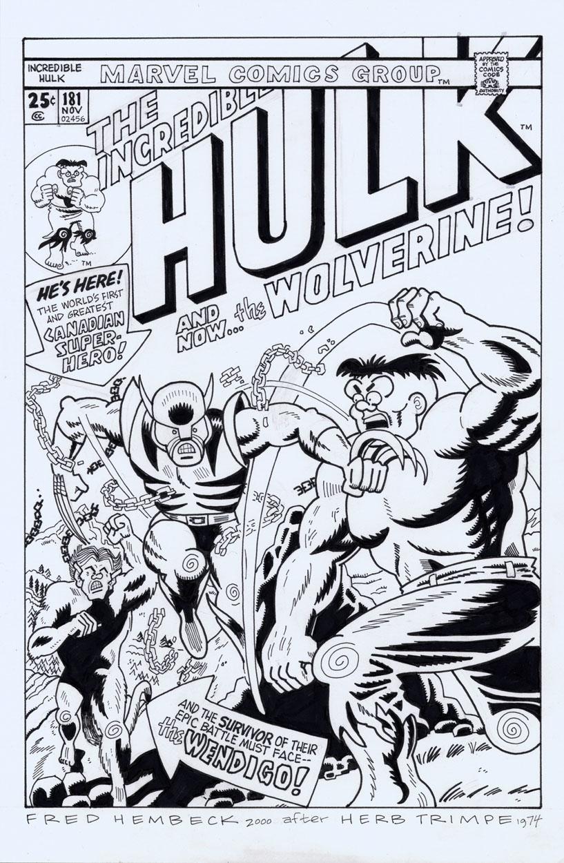 HULK #181 - 1st App. Wolverine Comic Art