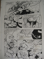 Mars Attacks Savage Dragon page Comic Art