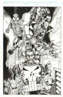 Spider-Man, Punisher & Venom - Mark Bagley Comic Art