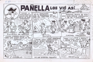 PA�ELLA Los vi� as�... los piratas Comic Art