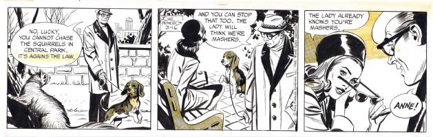 PRENTICE, JOHN Rip Kirby 03/16/1966, Comic Art