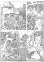 Rich Buckler pencil page from proposed Spiderman/Dr Strange Crossover, Comic Art