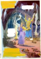 Dr. Strange / Dr. Doom Triumph and Torment p. 1 painted color guide (1989), Comic Art