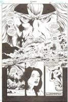 Aquaman, splashy portrait of a king in the year 2000 Comic Art