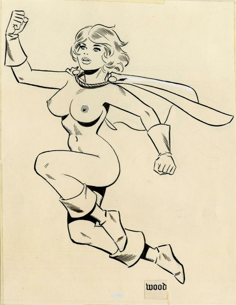 Wally Wood - Power Girl Comic Art