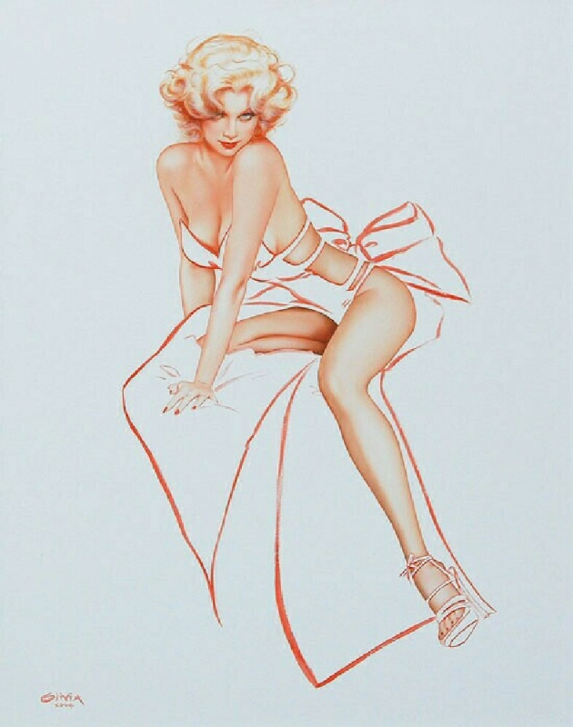 Rhonda as Marilyn Comic Art