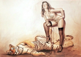 Sorayama - Bettie Tiger - print Comic Art