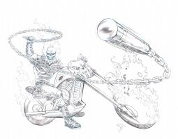 Chris Ivy - Ghost Rider Comic Art