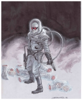 Chris Brunner - Mr. Freeze Comic Art