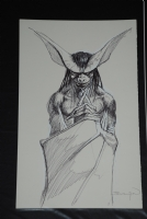 John Bolton - Man-Bat Sketch ***SOLD**** Comic Art