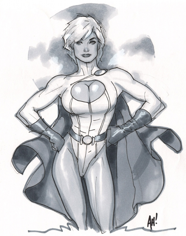 Hughes - Power Girl Comic Art