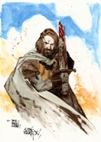 Scott Hampton�s King Arthur Comic Art