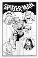 Spider-Man/Gwen Stacy/Mary Jane/Black Cat/Aunt May Commission by Terry Moore Comic Art
