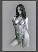 Celina  **** Nude Model Comic Art