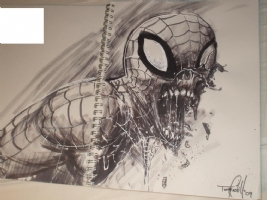 Zombie Spider-Man - Tommy Castillo Comic Art